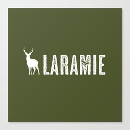Deer: Laramie, Wyoming Canvas Print