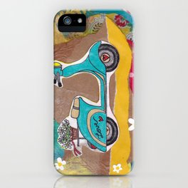 You are my Greatest Adventure - Turquoise Vespa  iPhone Case