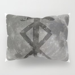 Viking bind rune 'Protection' on moon. Pillow Sham