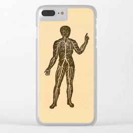 Circulatory system. Clear iPhone Case