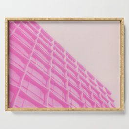 Pink Building Serving Tray