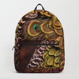 Peacock Tail Feathers Backpack