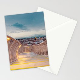 sunset view on a bridge Stationery Cards