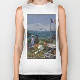 Claude Monet - Garden at Sainte-Adresse (1867) Biker Tank