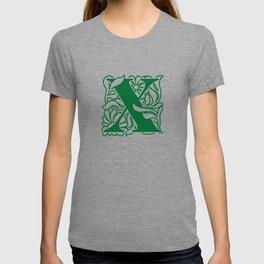 Ornate Initials One - X T-shirt