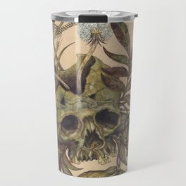 Skull with Weeds. Travel Mug