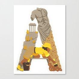 A as Archaeologist Canvas Print