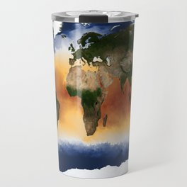 A Portrait of Global Sea Surface Temperatures Travel Mug