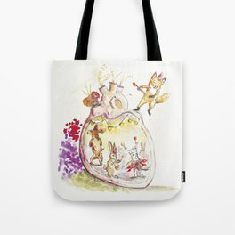 Animals dancing in my heart Tote Bag