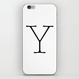 Letter Y Typewriting iPhone Skin