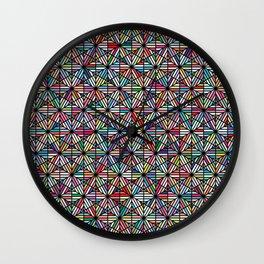 Cuben Offset Geometric Art Print. Wall Clock