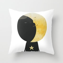 The day I kissed the Moon Throw Pillow
