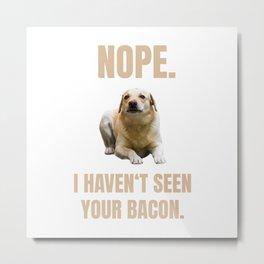 Labrador Meme Metal Print