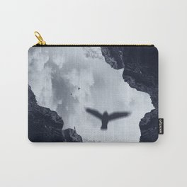 spaces xvii - cave mouth with bird Carry-All Pouch
