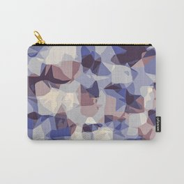 purple and blue modern abstract background Carry-All Pouch