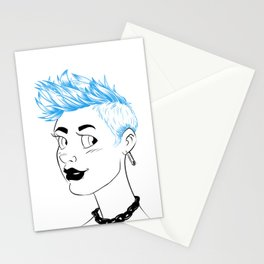 Sheena is... blue Stationery Cards