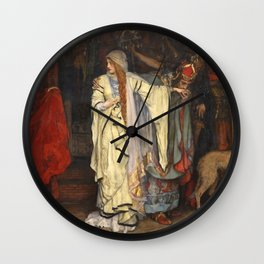 King Lear: Cordelia's Farewell, Act I, Scene I by Edwin Austin Abbey Wall Clock