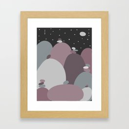 Pebble World Framed Art Print
