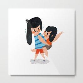 Little Sisters Metal Print