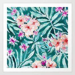 FRONDS ON FLEEK Tropical Palm Floral Art Print