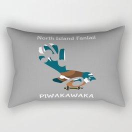 Piwakawaka | Fantail | New Zealand bird Rectangular Pillow