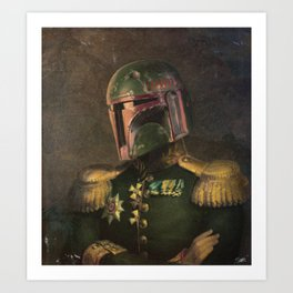 Boba Fett General Portrait Painting | Fan Art Art Print