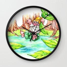 Gnome joining summer Wall Clock