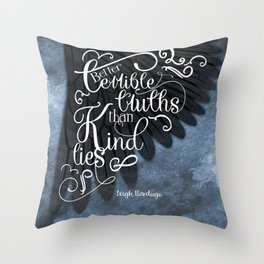 Six of Crows book quote design Throw Pillow