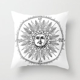 White Lights Throw Pillow