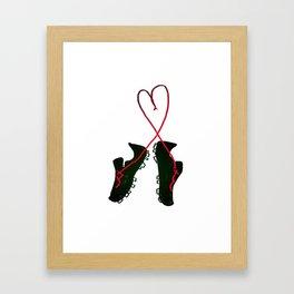 Soccer Love Framed Art Print