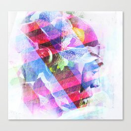 Abstract Head Canvas Print