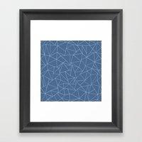 Ab Outline Blues Framed Art Print