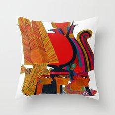 Vintage Egypt Headdress Travel Throw Pillow