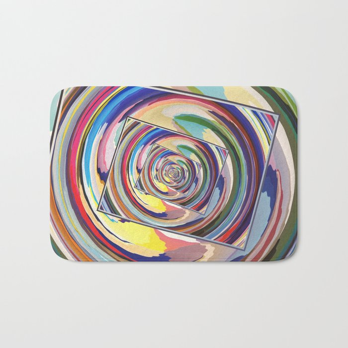 Spinning Colors Abstract Bath Mat