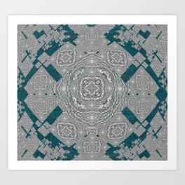 African Tribal Fractal Mandala Art Print