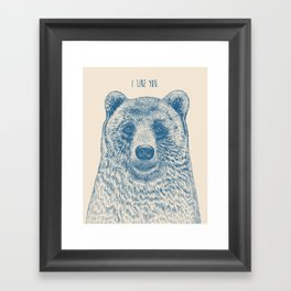 Bear (Ivory) Framed Art Print