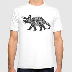 Triceratops or Tricerabottom? MEDIUM Mens Fitted Tee White