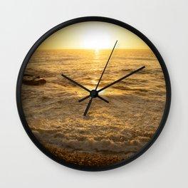 Sunset La Jolla by Reay of Light Wall Clock