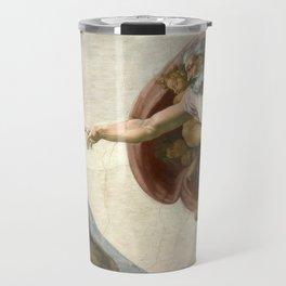 Michelangelo - Creation of Adam Travel Mug