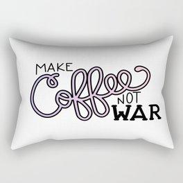 Coffee Not War (Unicorn) Rectangular Pillow