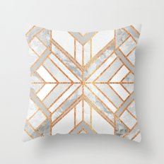 Geo Marble Dream Throw Pillow