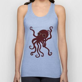 The Octopus who likes to read  Unisex Tank Top