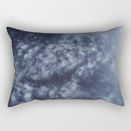 Blue veiled moon II Rectangular Pillow