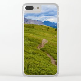 Views Along the Wilcox Pass Trail in Jasper National Park, Canada Clear iPhone Case