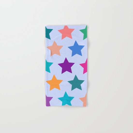 Colorful Stars Hand & Bath Towel