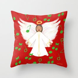 Christmas Angels Throw Pillow