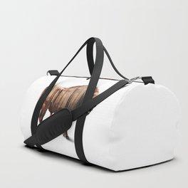 Bison Double-exposure art Duffle Bag