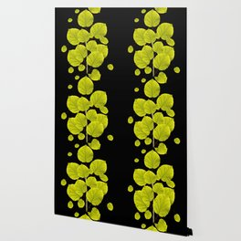 Green Leaves On A Black Background #decor #buyart #society6 Wallpaper