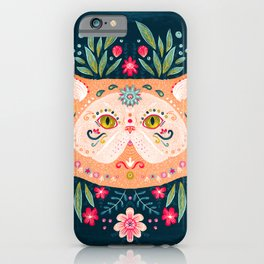 Candied Sugar Skull Kitty iPhone Case