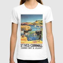 Vintage St. Ives Cornwall England Travel T-shirt